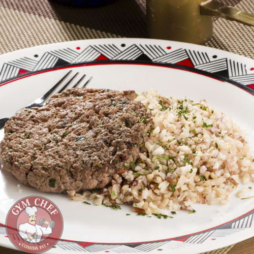 02 - Hambúrguer de Carne + Arroz Integral - 230g