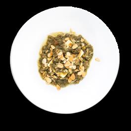 ragu de lentilha com polenta
