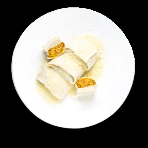 raviole de abóbora e carne seca
