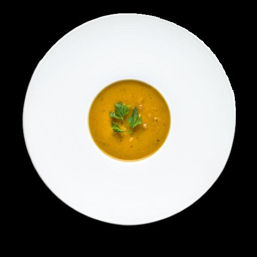 sopa de inhame, cenoura e feijão azuki