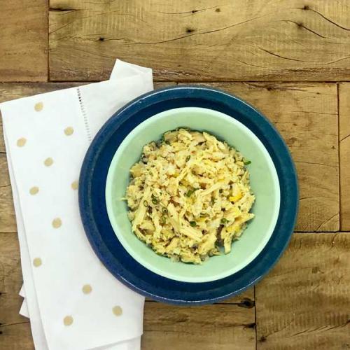 Escalope de filé mignon com mix de cogumelos e arroz integral