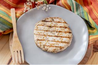 Hambúrguer de Frango com Linhaça Dourada