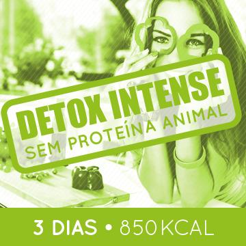 Detox Intense - SEM PROTEÍNA ANIMAL -  3 dias - almoço, lanche da tarde e jantar