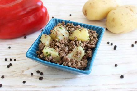 Carne Moida com batatas da maddas