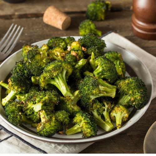 brócolis grelhado alho