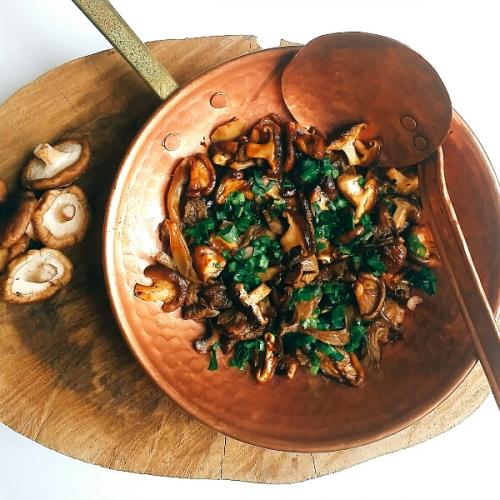 cogumelo grelhado shoyu