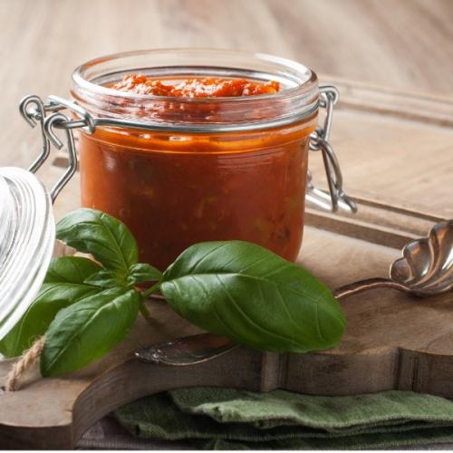 molho tomate manjericão